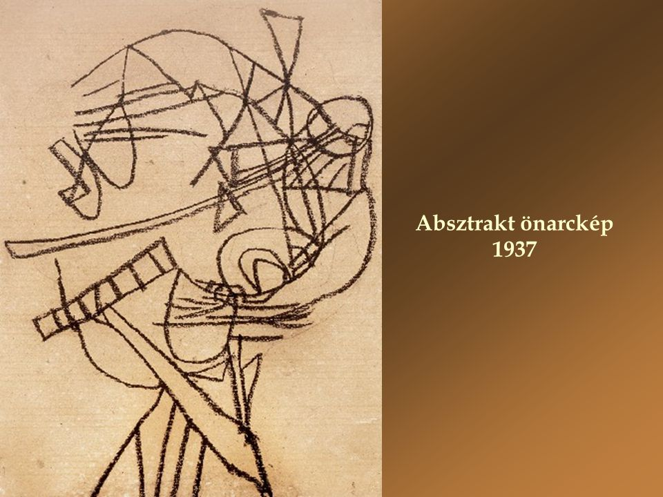 Absztrakt önarckép 1937