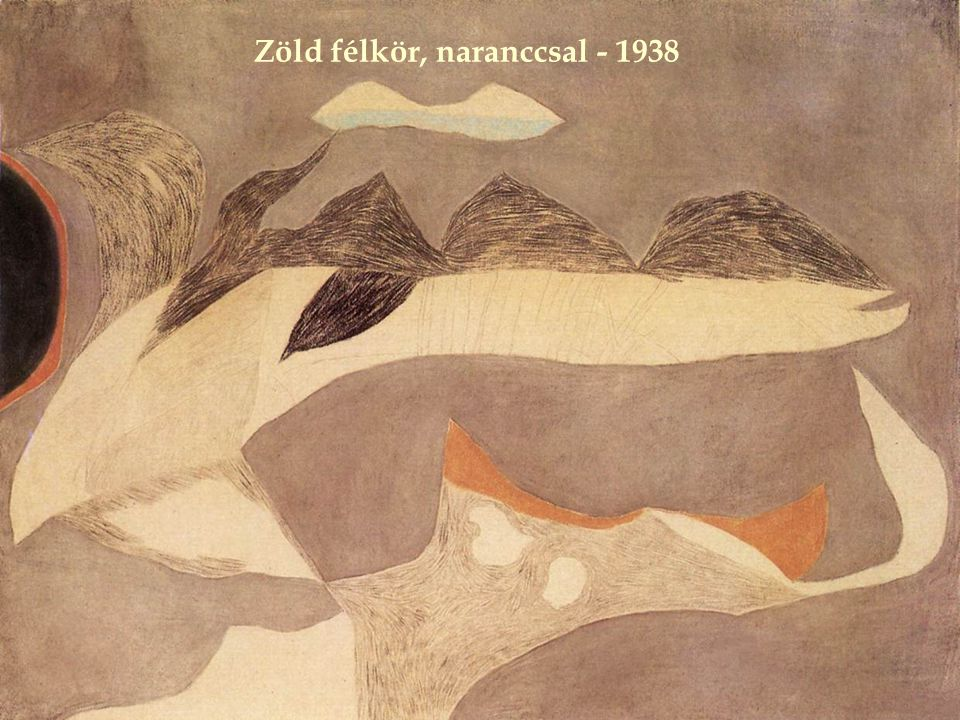 Zöld félkör, naranccsal - 1938