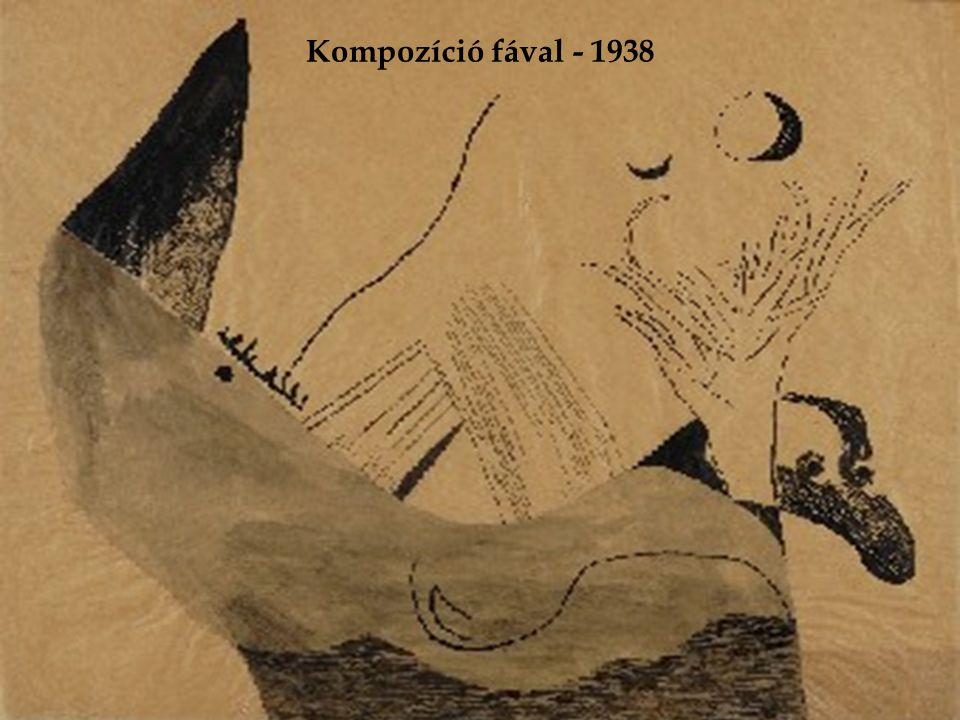 Kompozíció fával - 1938