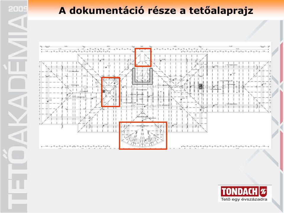 A dokumentáció része a tetőalaprajz