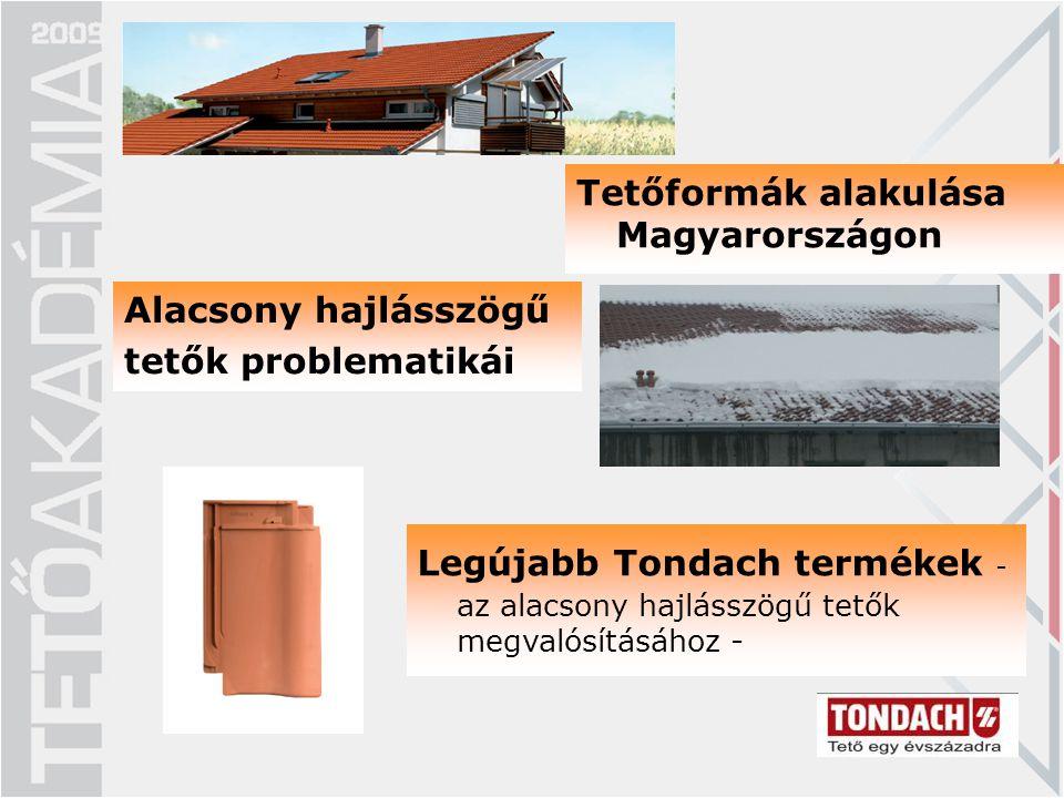 Tetőformák alakulása Magyarországon