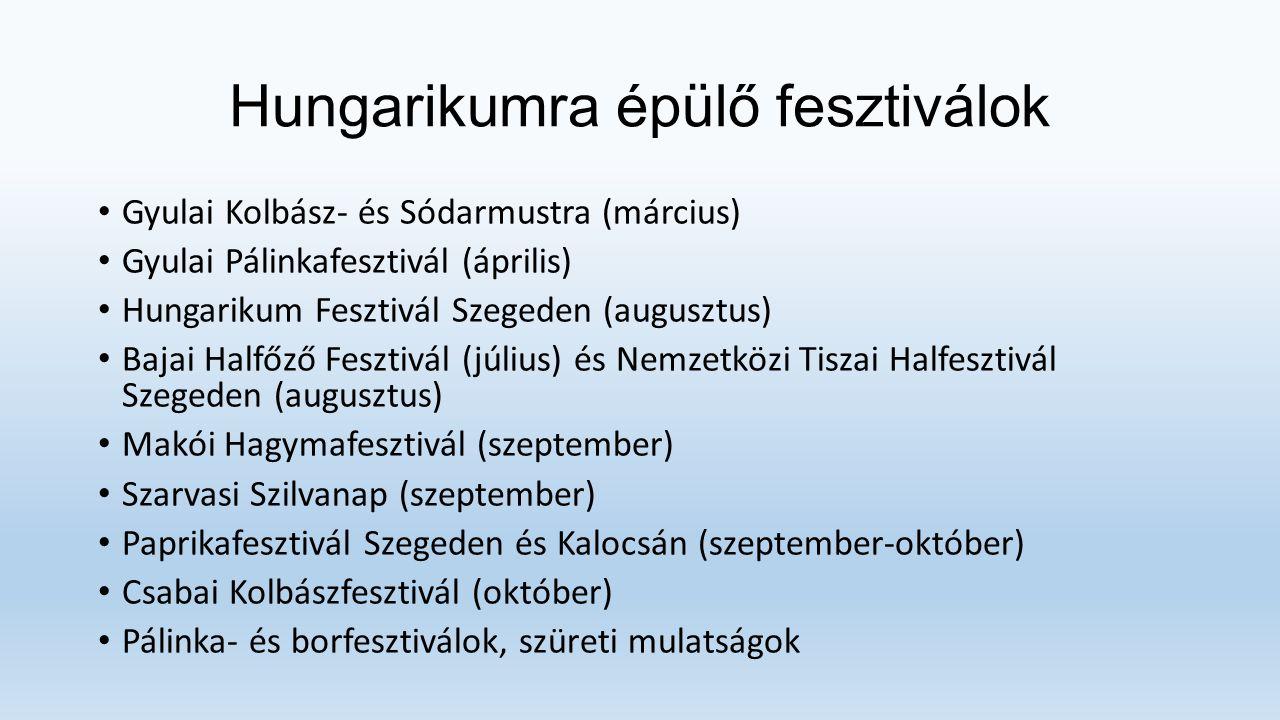 Hungarikumra épülő fesztiválok