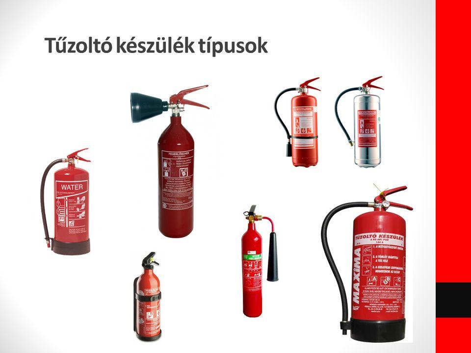 Tűzoltó készülék típusok