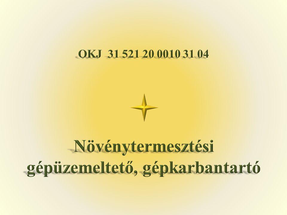 OKJ 31 521 20 0010 31 04 Növénytermesztési gépüzemeltető, gépkarbantartó
