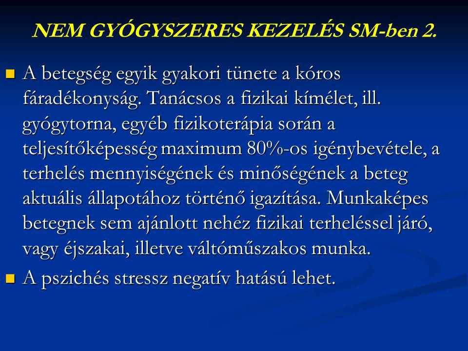 NEM GYÓGYSZERES KEZELÉS SM-ben 2.