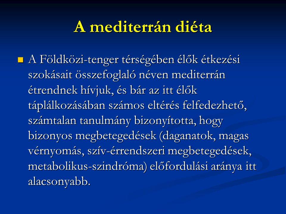 A mediterrán diéta