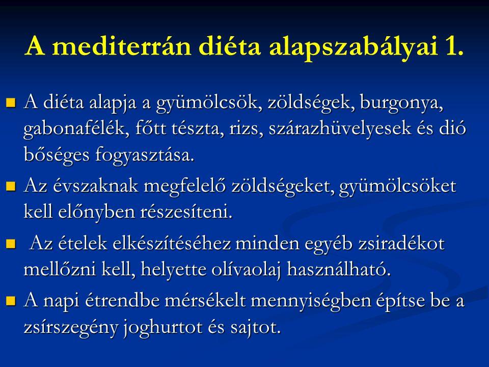 A mediterrán diéta alapszabályai 1.