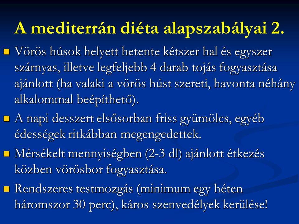 A mediterrán diéta alapszabályai 2.
