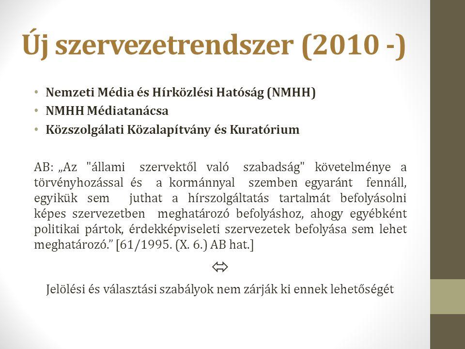 Új szervezetrendszer (2010 -)