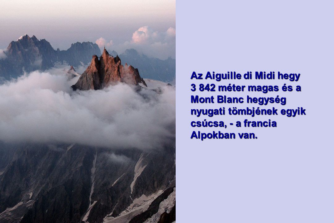 Az Aiguille di Midi hegy