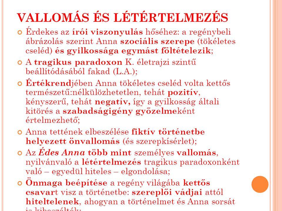 VALLOMÁS ÉS LÉTÉRTELMEZÉS