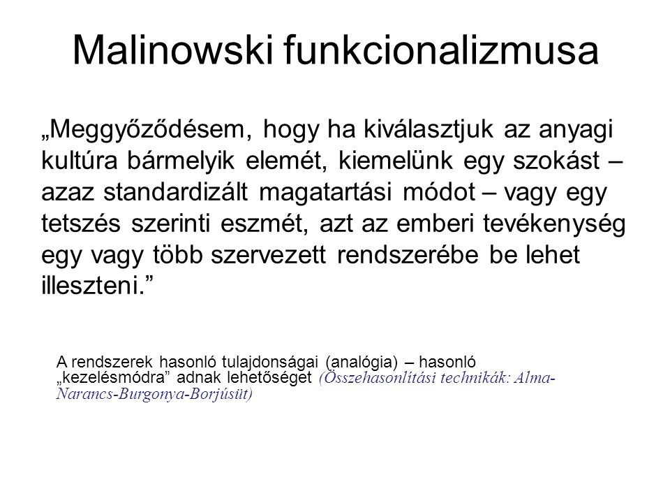 Malinowski funkcionalizmusa