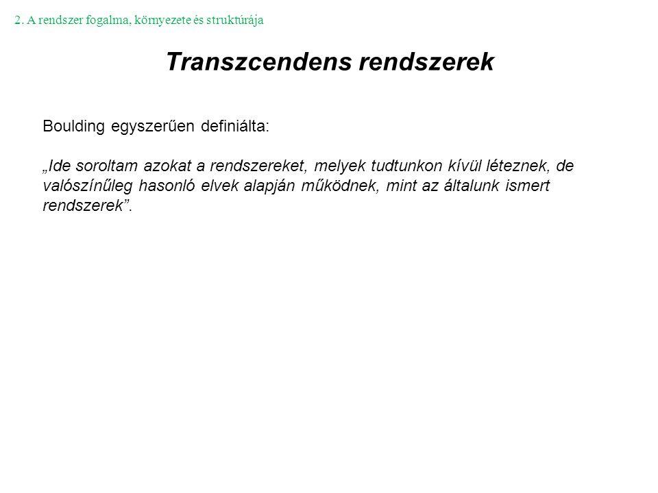 Transzcendens rendszerek