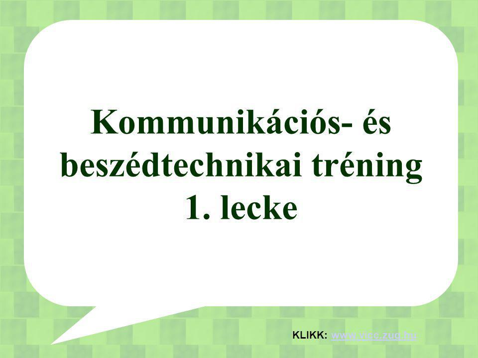 Kommunikációs- és beszédtechnikai tréning