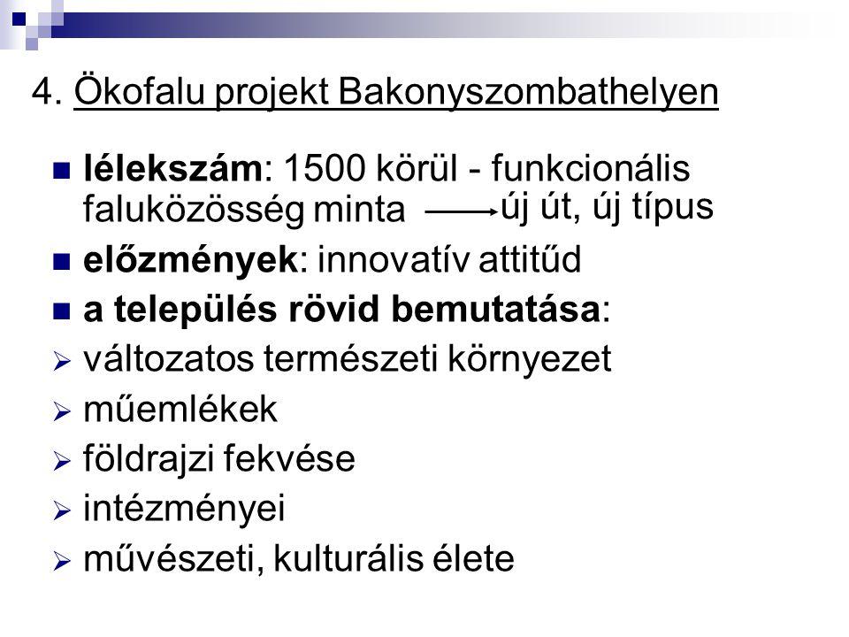 4. Ökofalu projekt Bakonyszombathelyen