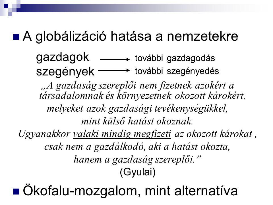 A globálizáció hatása a nemzetekre