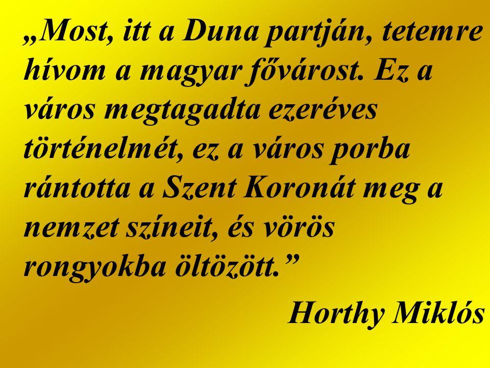 """""""Most, itt a Duna partján, tetemre hívom a magyar fővárost"""