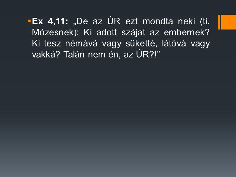 """Ex 4,11: """"De az ÚR ezt mondta neki (ti"""