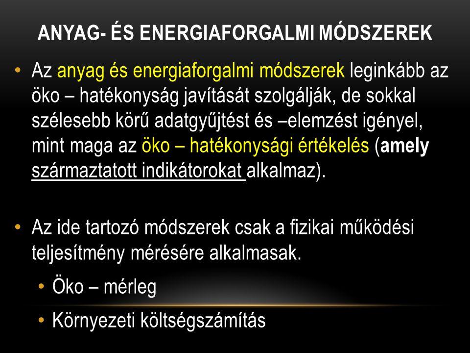 Anyag- és energiaforgalmi módszerek