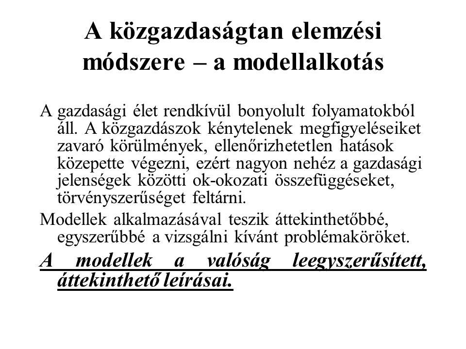 A közgazdaságtan elemzési módszere – a modellalkotás
