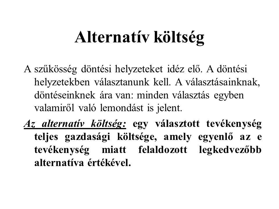 Alternatív költség