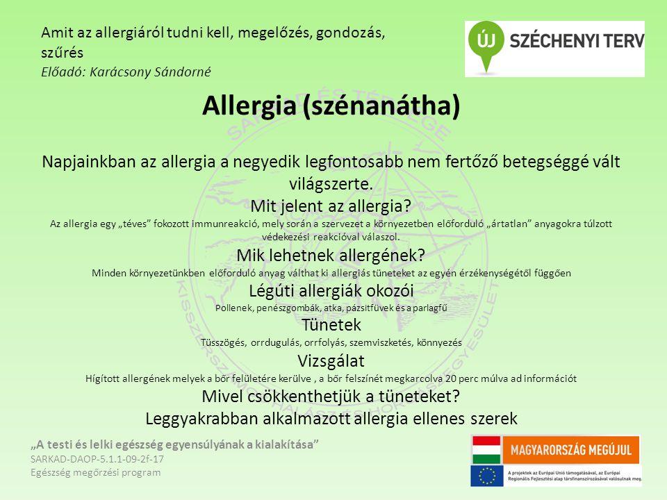 Amit az allergiáról tudni kell, megelőzés, gondozás, szűrés