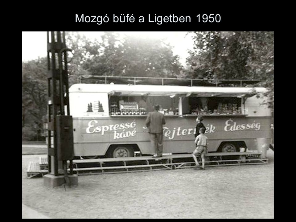 Mozgó büfé a Ligetben 1950