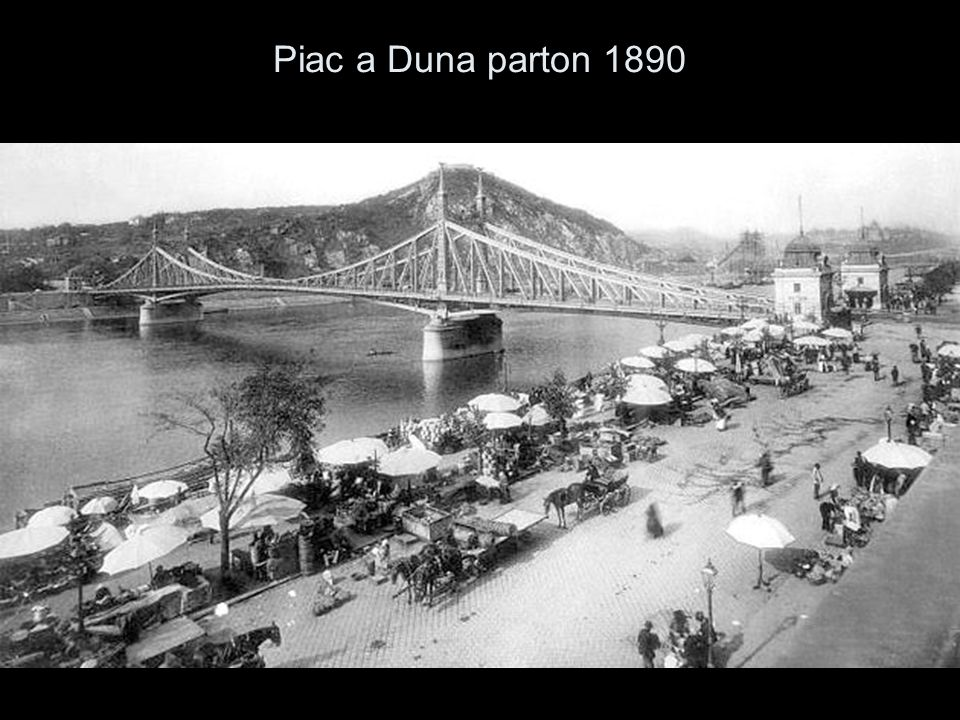 Piac a Duna parton 1890