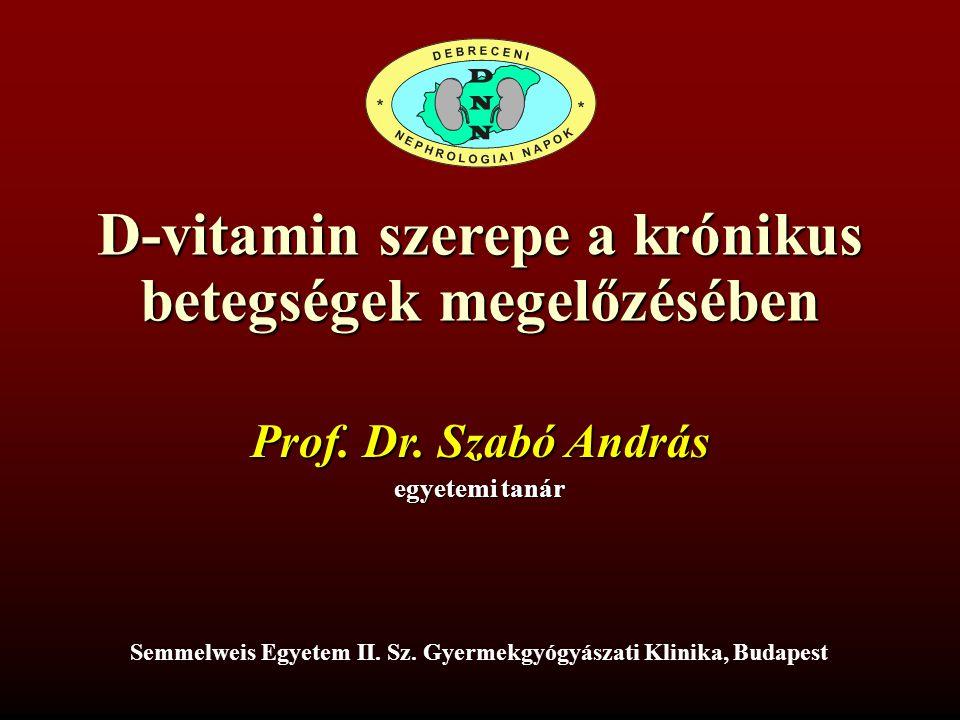D-vitamin szerepe a krónikus betegségek megelőzésében