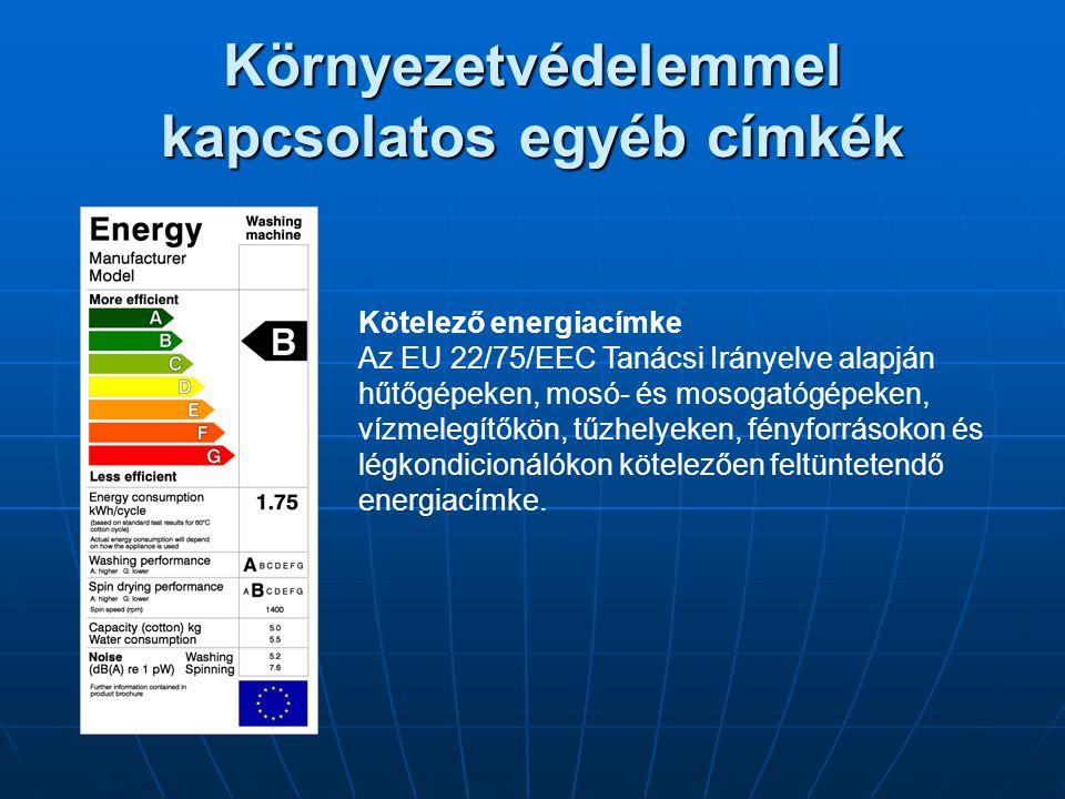 Környezetvédelemmel kapcsolatos egyéb címkék