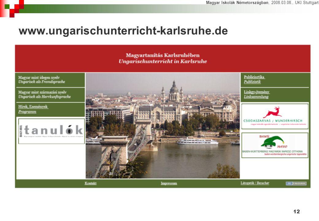 Magyar Iskolák Németországban, 2008.03.08., UKI Stuttgart