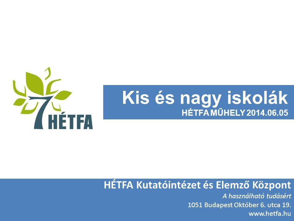 Kis és nagy iskolák HÉTFA Kutatóintézet és Elemző Központ