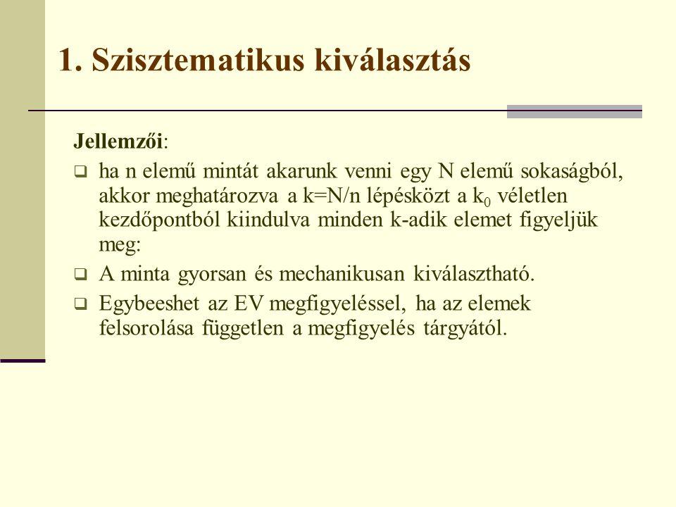 1. Szisztematikus kiválasztás