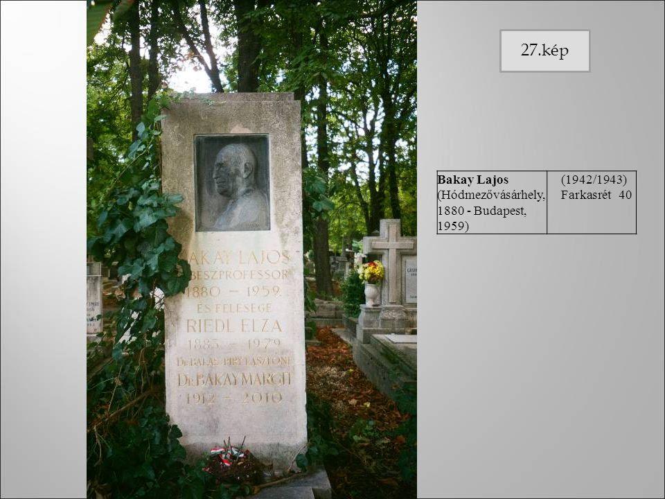 27.kép Bakay Lajos (Hódmezővásárhely, 1880 - Budapest, 1959)