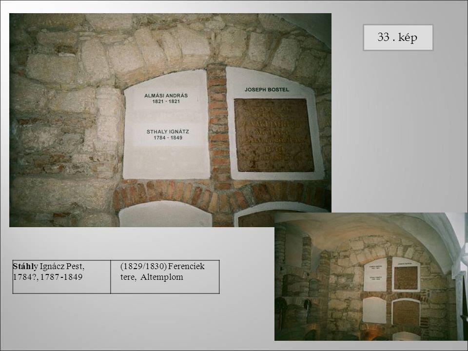 33 . kép Stáhly Ignácz Pest, 1784 , 1787 -1849