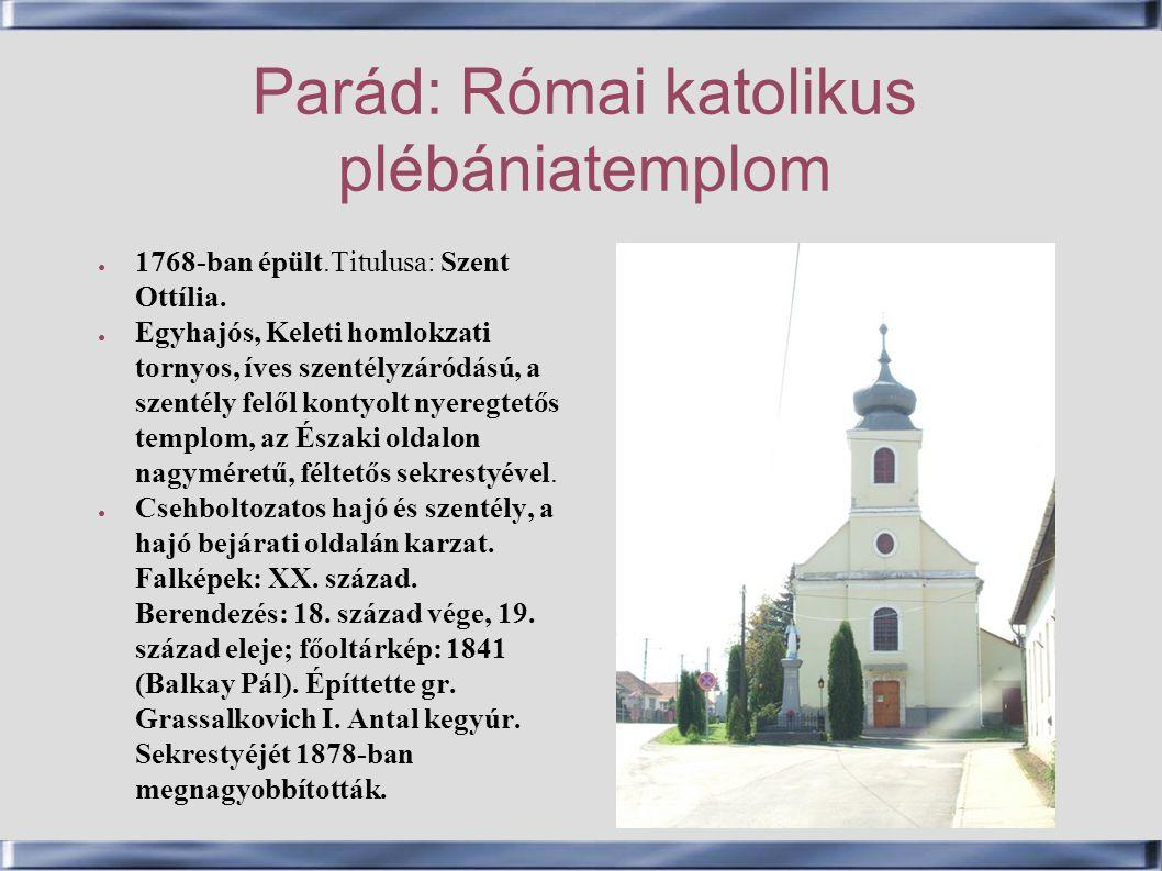 Parád: Római katolikus plébániatemplom