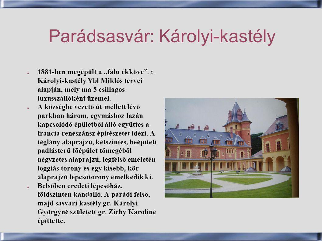 Parádsasvár: Károlyi-kastély