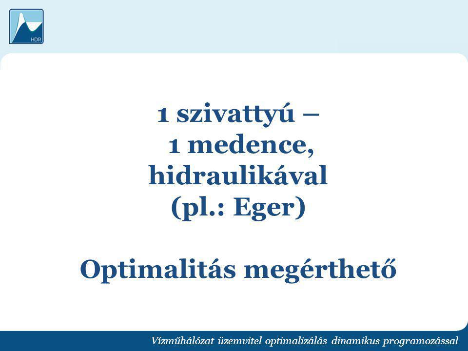 1 szivattyú – 1 medence, hidraulikával (pl