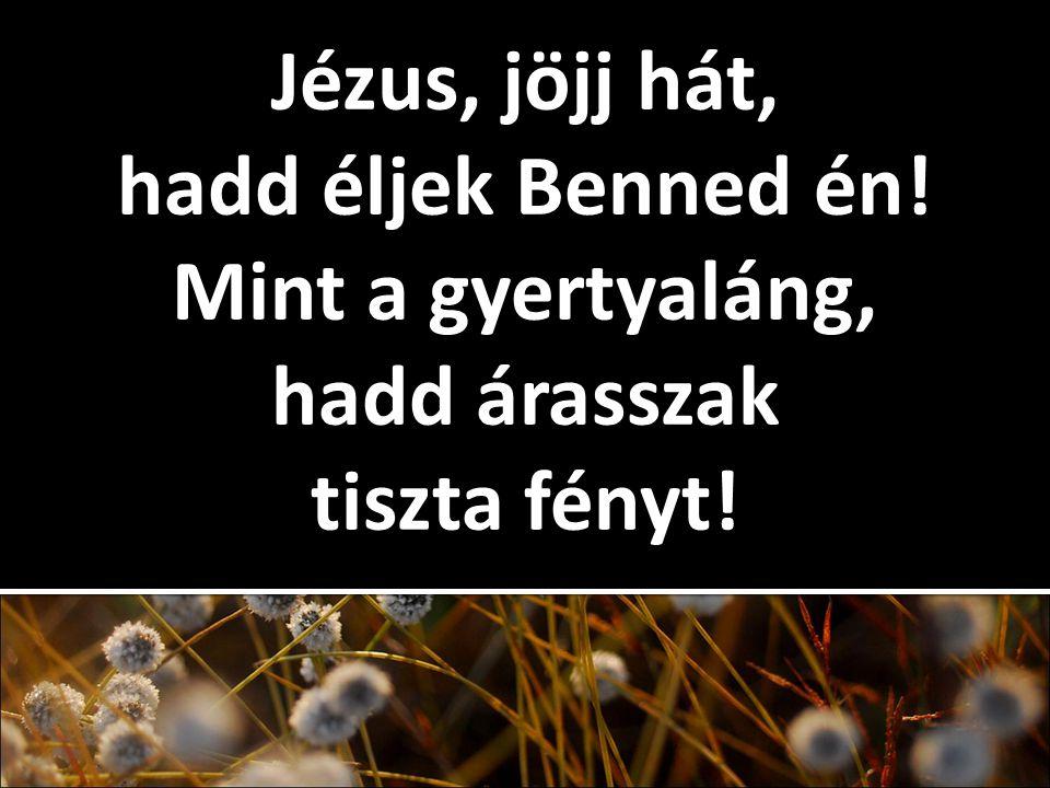 Jézus, jöjj hát, hadd éljek Benned én