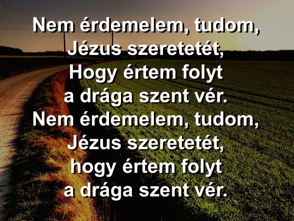 Nem érdemelem, tudom, Jézus szeretetét,