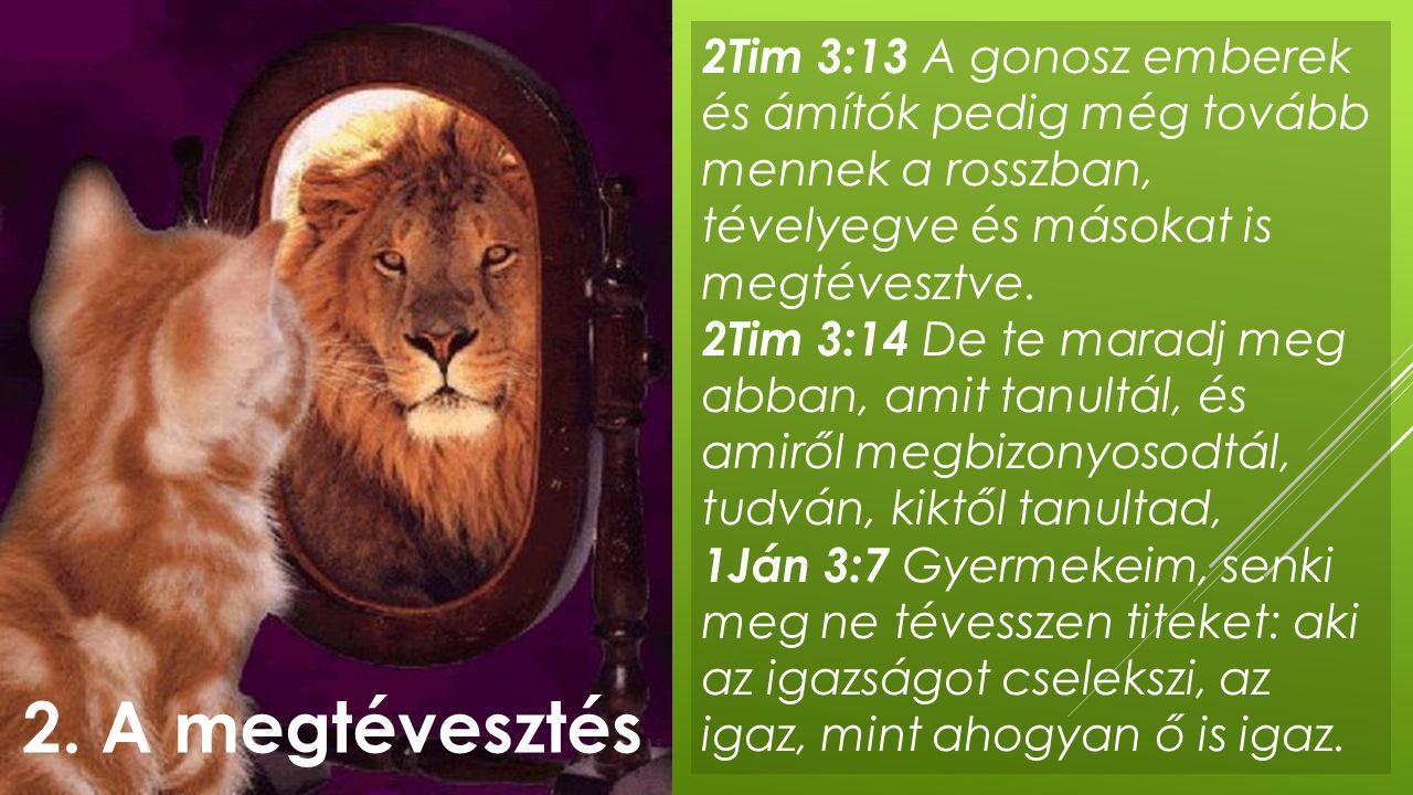 2Tim 3:13 A gonosz emberek és ámítók pedig még tovább mennek a rosszban, tévelyegve és másokat is megtévesztve.