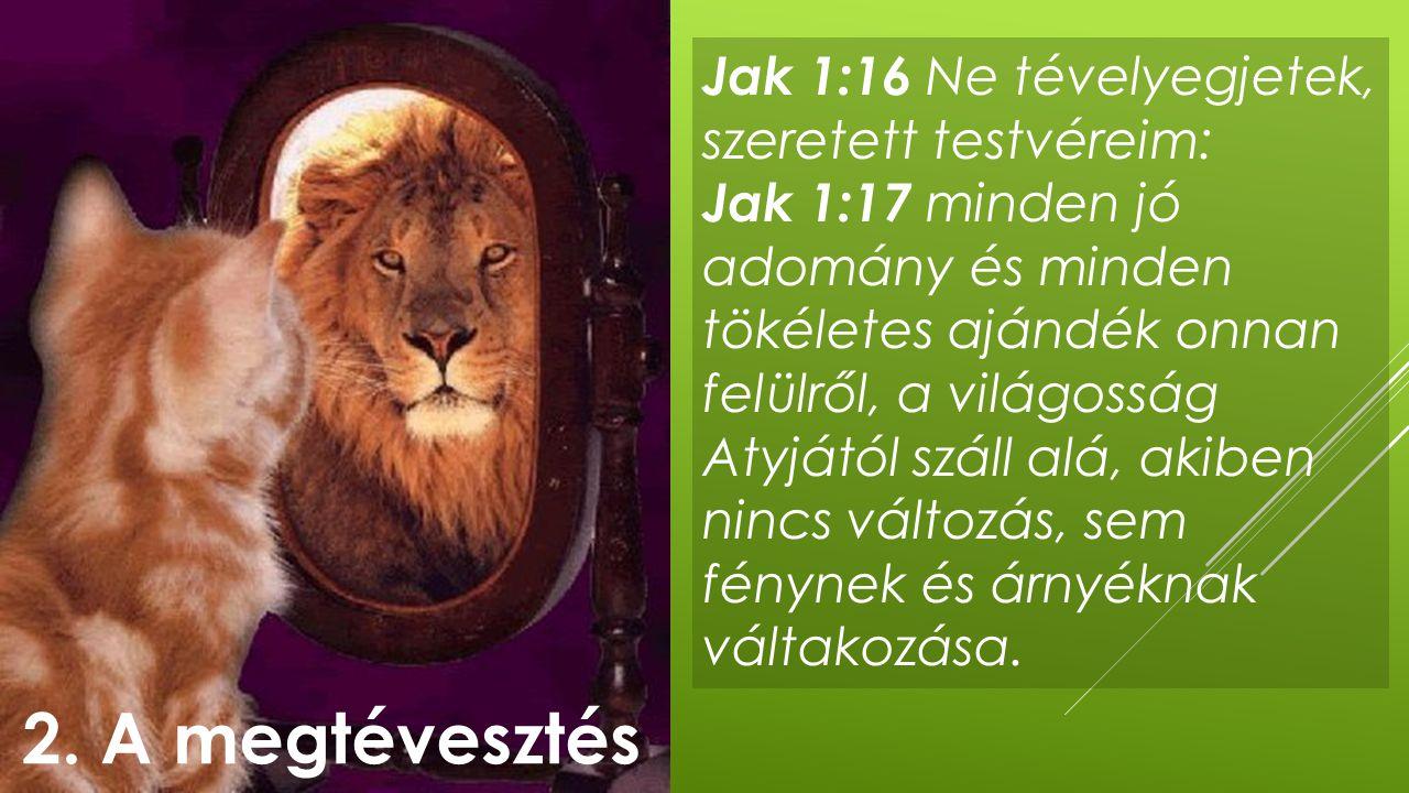 2. A megtévesztés Jak 1:16 Ne tévelyegjetek, szeretett testvéreim: