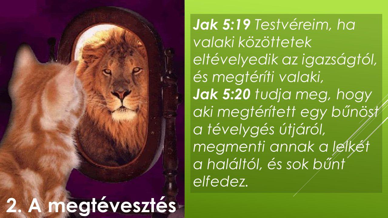 Jak 5:19 Testvéreim, ha valaki közöttetek eltévelyedik az igazságtól, és megtéríti valaki,