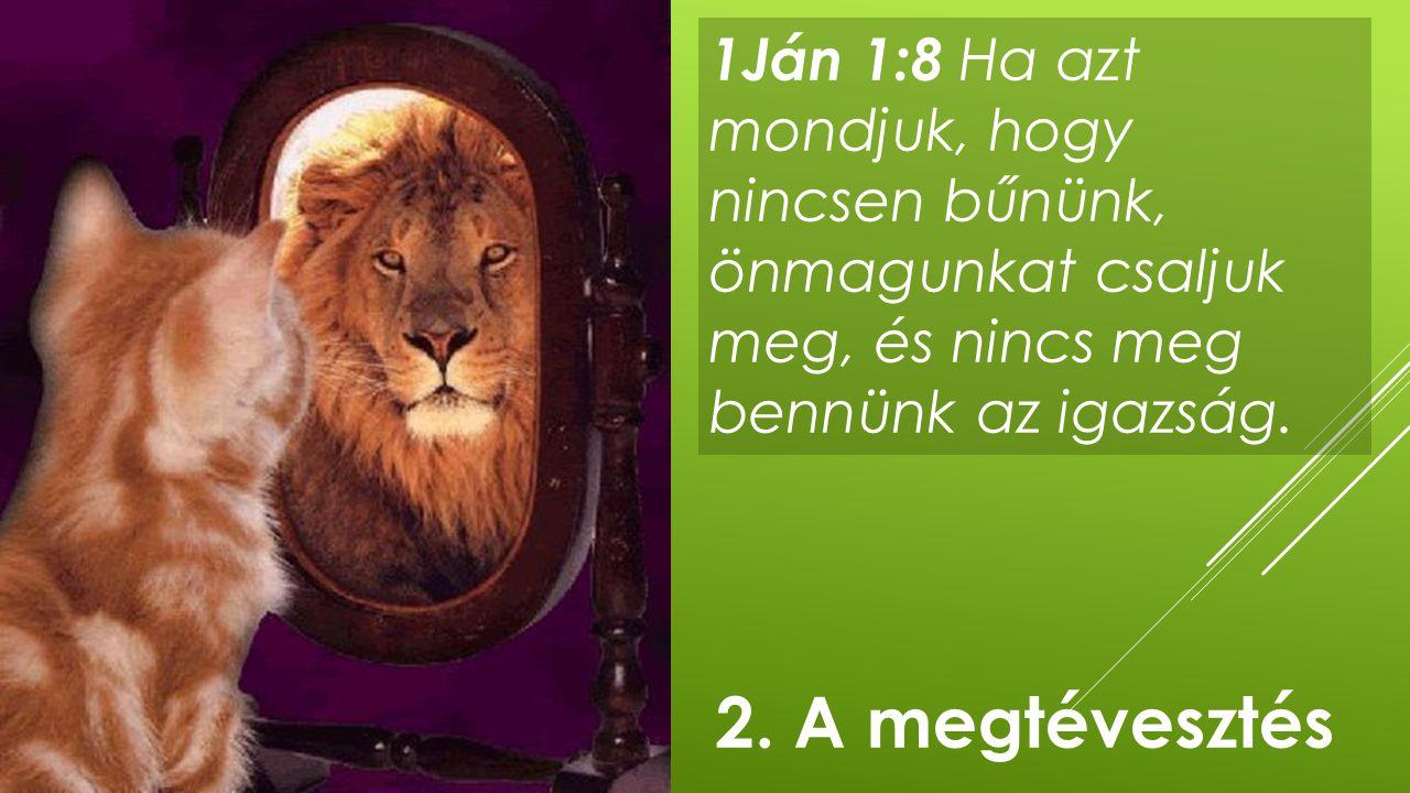 1Ján 1:8 Ha azt mondjuk, hogy nincsen bűnünk, önmagunkat csaljuk meg, és nincs meg bennünk az igazság.