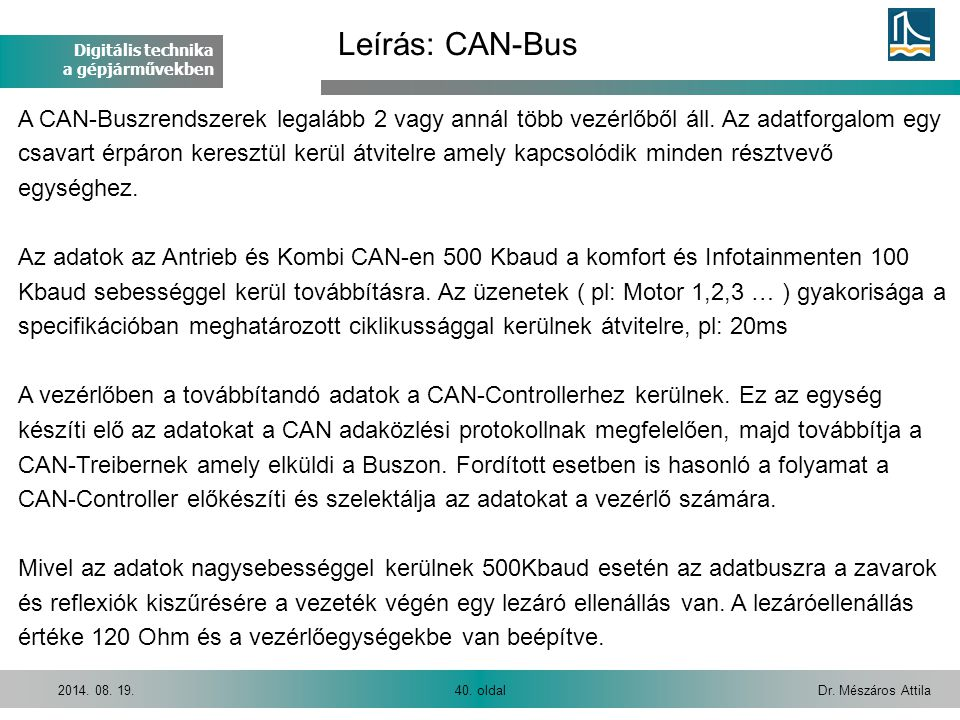 Leírás: CAN-Bus