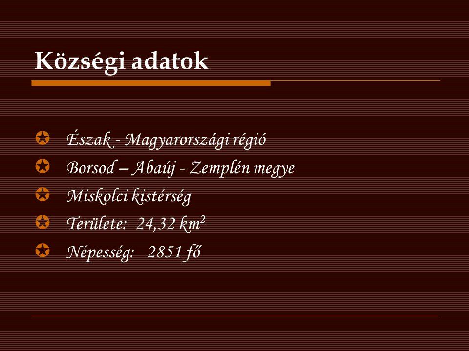 Községi adatok Észak - Magyarországi régió