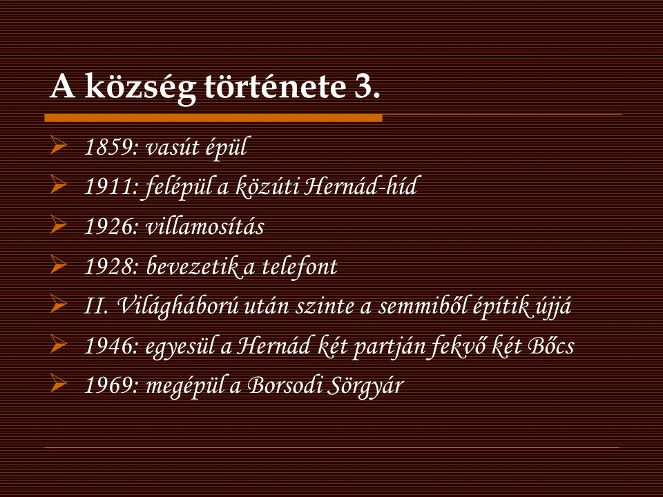 A község története 3. 1859: vasút épül