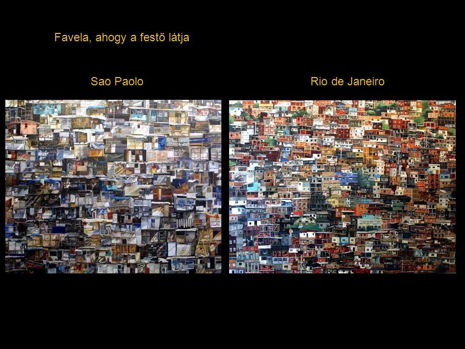 Favela, ahogy a festő látja