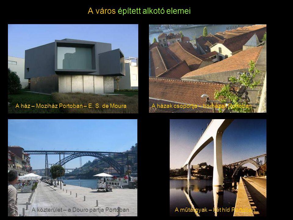 A város épített alkotó elemei