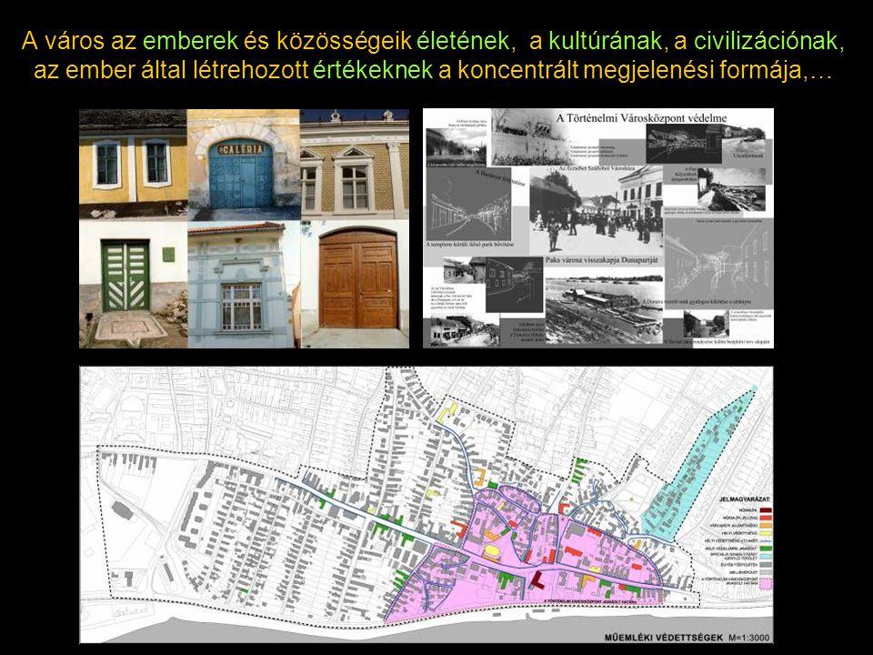 A város az emberek és közösségeik életének, a kultúrának, a civilizációnak, az ember által létrehozott értékeknek a koncentrált megjelenési formája,…